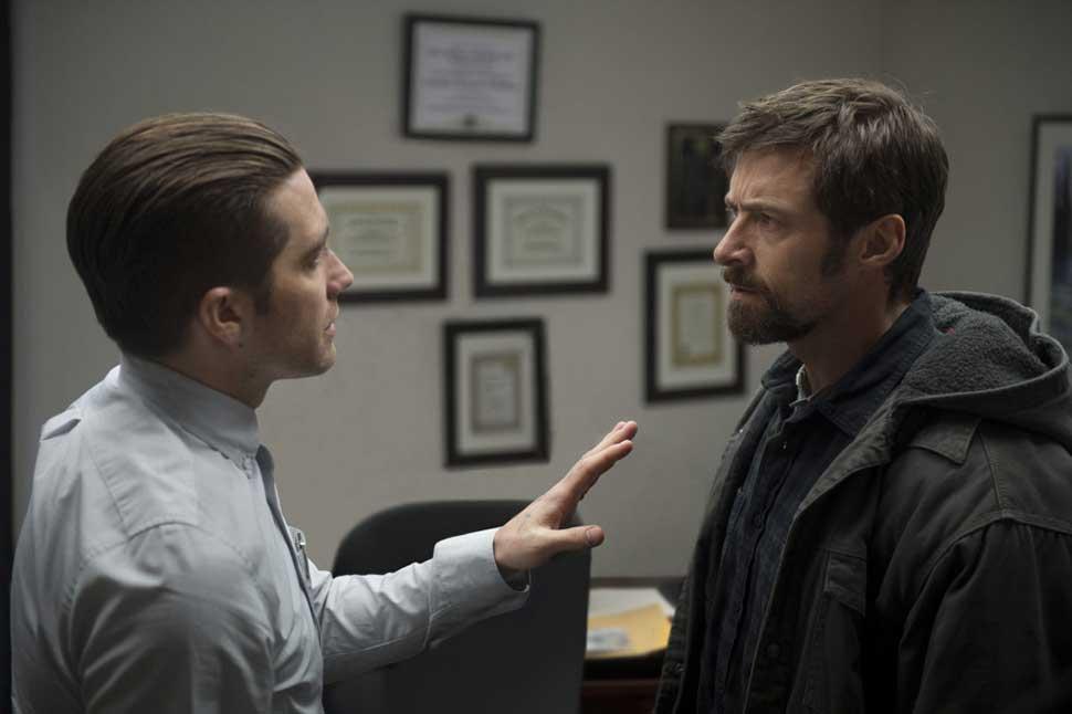 "L to R: Jake Gyllenhaal and Hugh Jackman in ""Prisoners,"" directed by Denis Villeneuve"