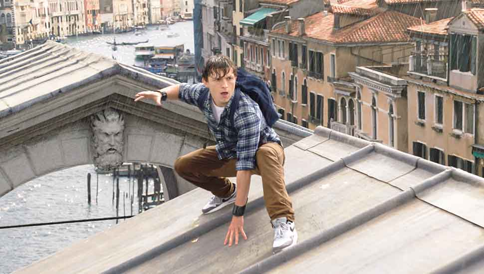 Tom Holland is Peter Parker, in Columbia Pictures' SPIDER-MAN:™ FAR FROM HOME.  (Courtesy Sony Pictures)